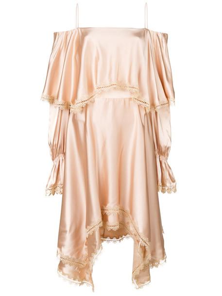 Jonathan Simkhai dress women spandex draped lace nude