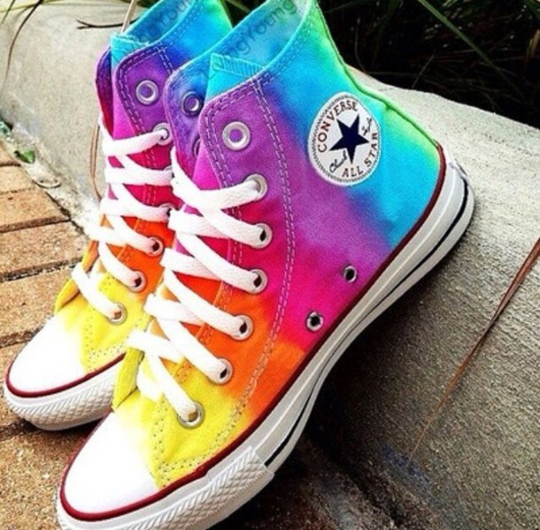 Shoes Multicolor Converse Rainbow Pastel Bright