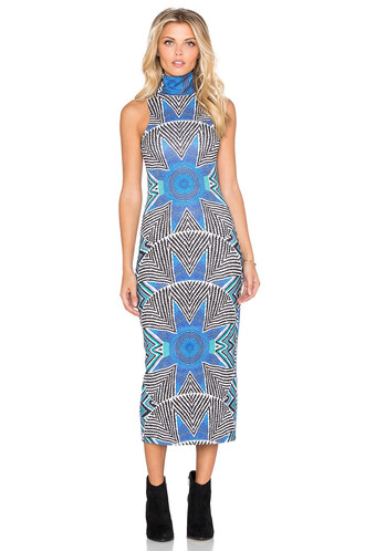 dress turtleneck dress blue