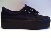 sneakers,platform shoes,black,wedges,flat,black shoes,shoes
