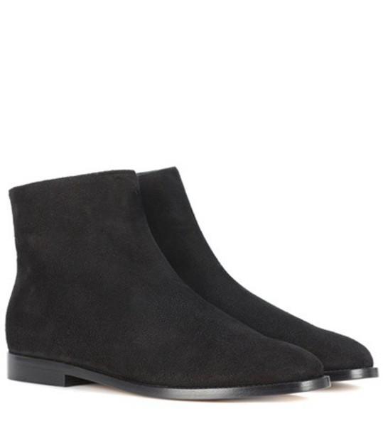 Mansur Gavriel Suede ankle boots in black