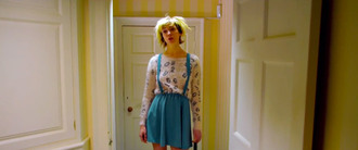 sweater utopia channel 4 uk bbc london television jessica hyde skirt suspenders fiona o'shaughnessy blonde hair blue numbers number sweater britain