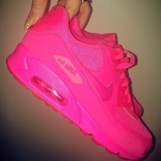 shoes air max neon pink airmaxes neon pink nike air max 90 nike sneakers sneakers sports shoes nike hot-pink fluorescent #airmax #hyperfuse nike air max 90 hyper pink nike air max 90 nike air max 90 hyperfuse perfecto