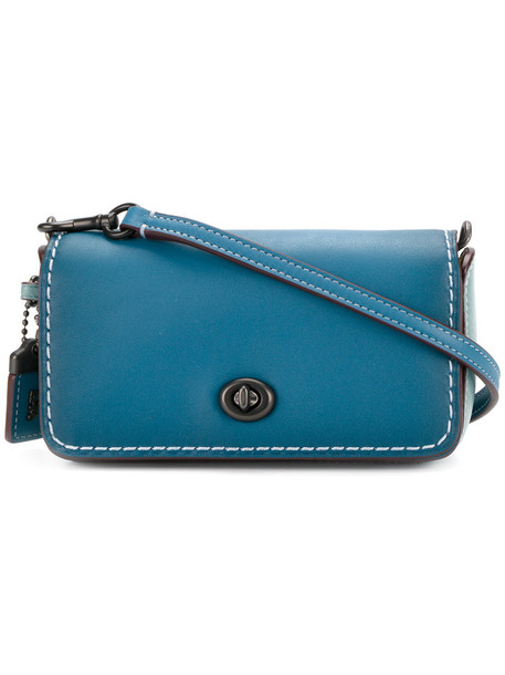 coach mini women bag crossbody bag leather blue