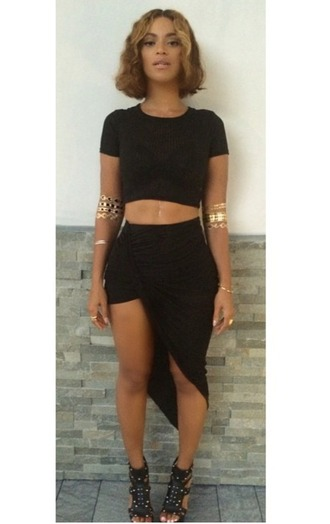 skirt black skirt beyoncé short on one side wrap skirt