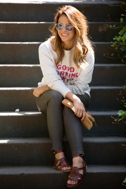 gal meets glam t-shirt pants shoes bag sunglasses