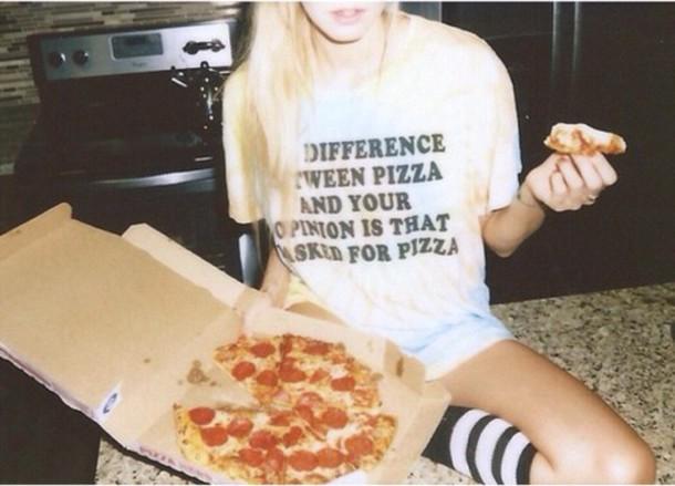 t-shirt grunge t-shirt grunge pizza pizza shirt alternative alternative