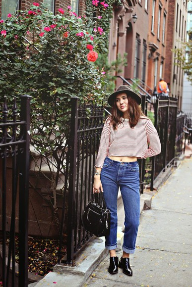 blogger bag ankle boots hat color me nana high waisted jeans