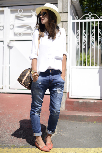lovely pepa shirt bag hat sunglasses jewels jeans