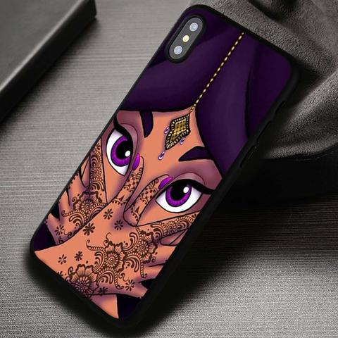 Princess Face Purple Beautifull - iPhone X 8  7 6s SE Cases & Covers #iPhoneX