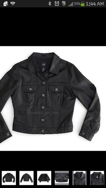 jacket black vintage jacket from the gap lrg in size