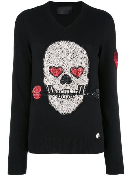 sweater skull sweater skull women black wool