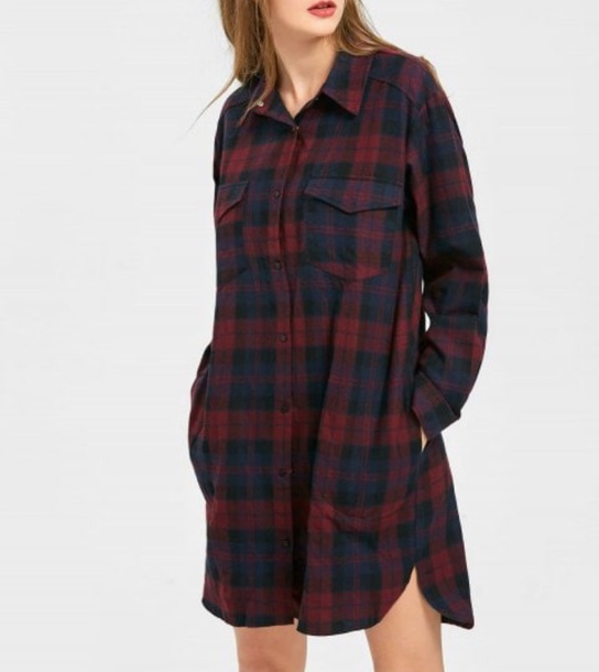 blouse girly plaid plaid shirt button up button down shirt oversized