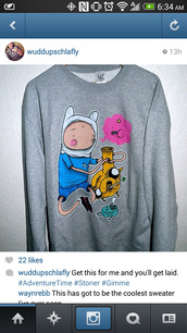 sweater,adventure time