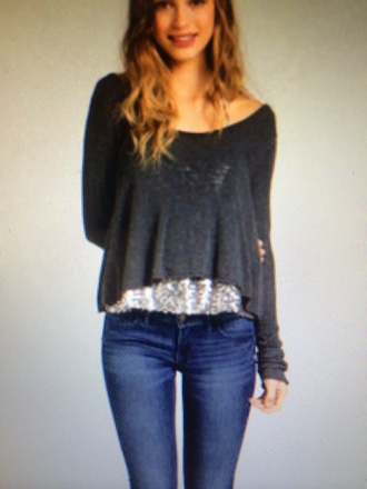 sweater off the shoulder off the shoulder sweater cropped sweater crop tops hollister