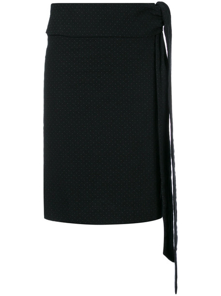 skirt women cotton black