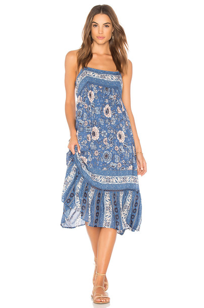 Spell & The Gypsy Collective dress midi dress midi blue