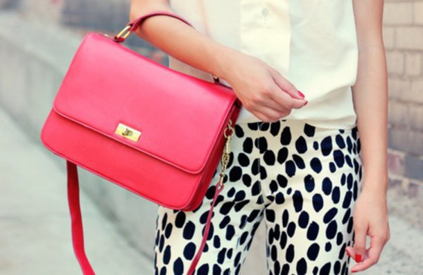 bag crossbody bag hot hot pink pink dress