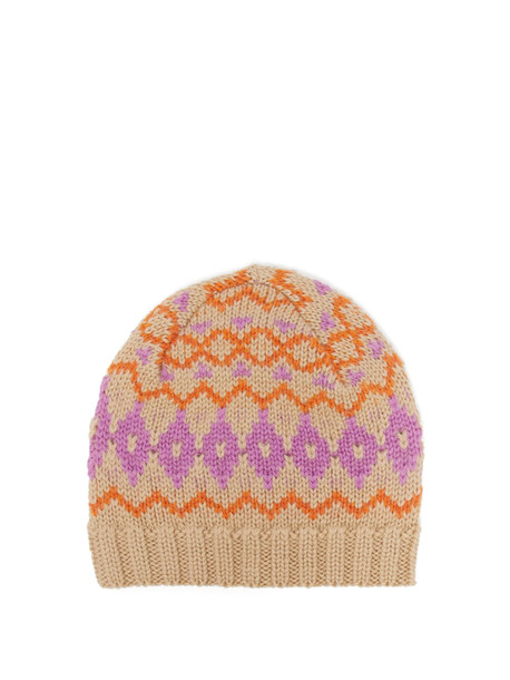 ACNE STUDIOS Fair Isle wool hat in pink