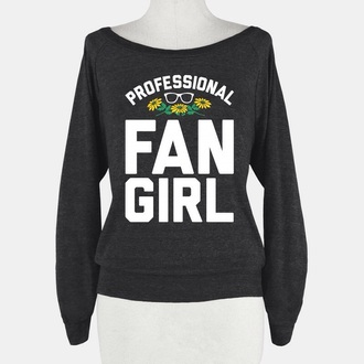 fan girl jumper grunge top retro tumblr sweater tumblr