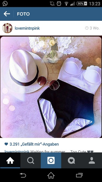 swimwear clothes cool trendy hipster old school black and white sunglasses hat