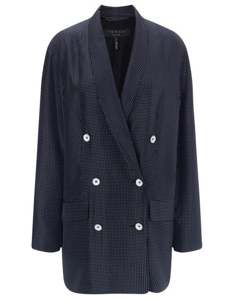 blazer navy silk blue