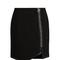 Leather-trimmed wool mini skirt | mugler | matchesfashion.com us