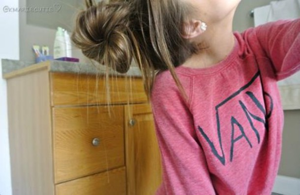 Sweater Pink Vans Hipster Shirt Summer Indie Girl Red