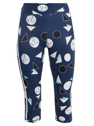 leggings print blue pants