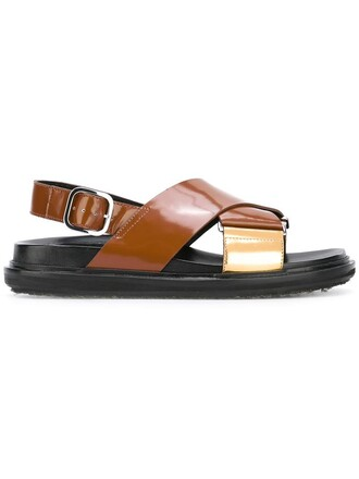 women sandals leather brown shoes