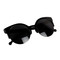 Black retro cat-eyed sunglasses
