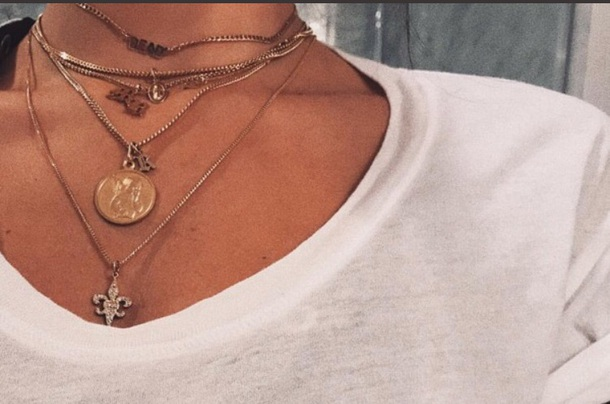 jewels necklace madison beer necklace coin necklace gold jewelry