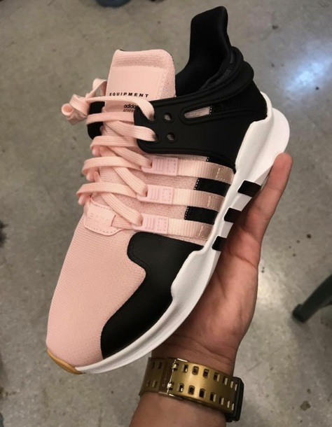 new products ef3e7 7e3ee shoes adidas pink and black pink black adidas shoes