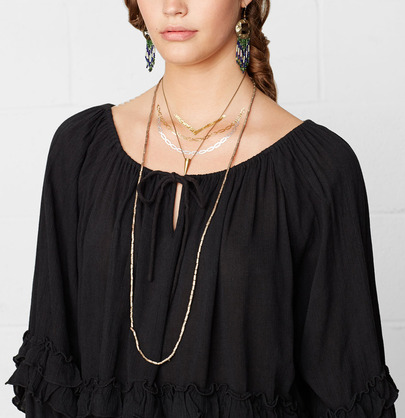 Black long sleeve off the shoulder ruffle blouse