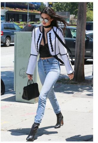 top lace top lace lingerie lace bralette bralette jeans jacket kendall jenner kardashians sunglasses scarf kylie jenner white blazer