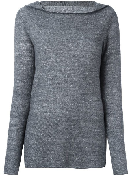 Stella McCartney jumper women draped wool grey sweater