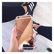 phone cover,black,miror,gold,iphone cover,iphone case,iphone 6 case,fashion,apple