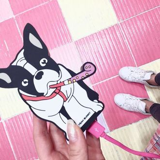 home accessory yeah bunny power bank cute frenchie dog