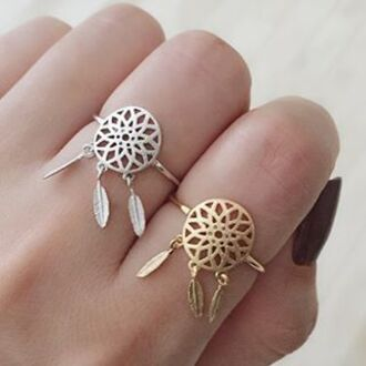 jewels cherry diva knuckle ring ring gold midi rings silver ring gold ring dream catcher jewelry dreamcatcher