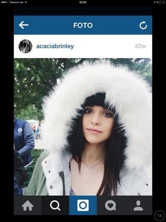 jacket acacia brinley parker white green fur hood