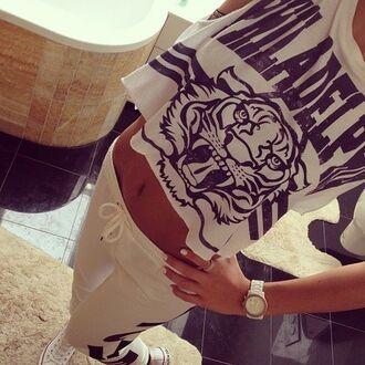 shirt summer white crop tops animal print animal print top