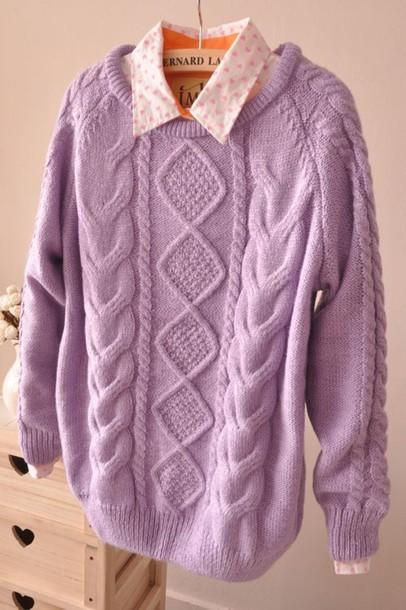 sweater lilac pastel kawaii ulzzang ulzzang cute spring outfits kfashion