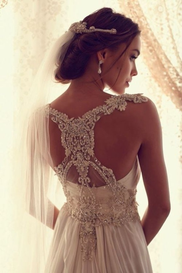 dress white dress wedding dress lace wedding dress back design hipster wedding beach wedding