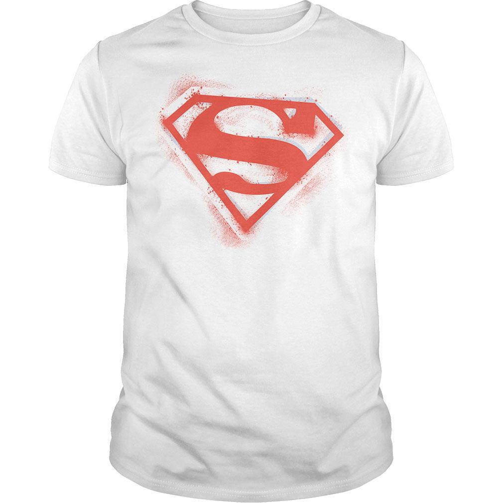 Superman Spray Paint Shield T Shirts Hoodies Sweatshirts Custom