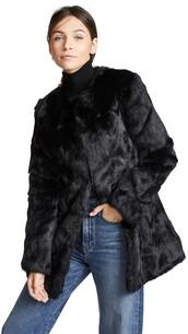 coat,fur coat,fur,black
