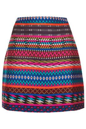 Patterned Blanket Aline Skirt - Skirts - Clothing - Topshop USA