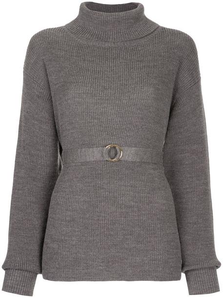 Cityshop jumper women wool grey sweater