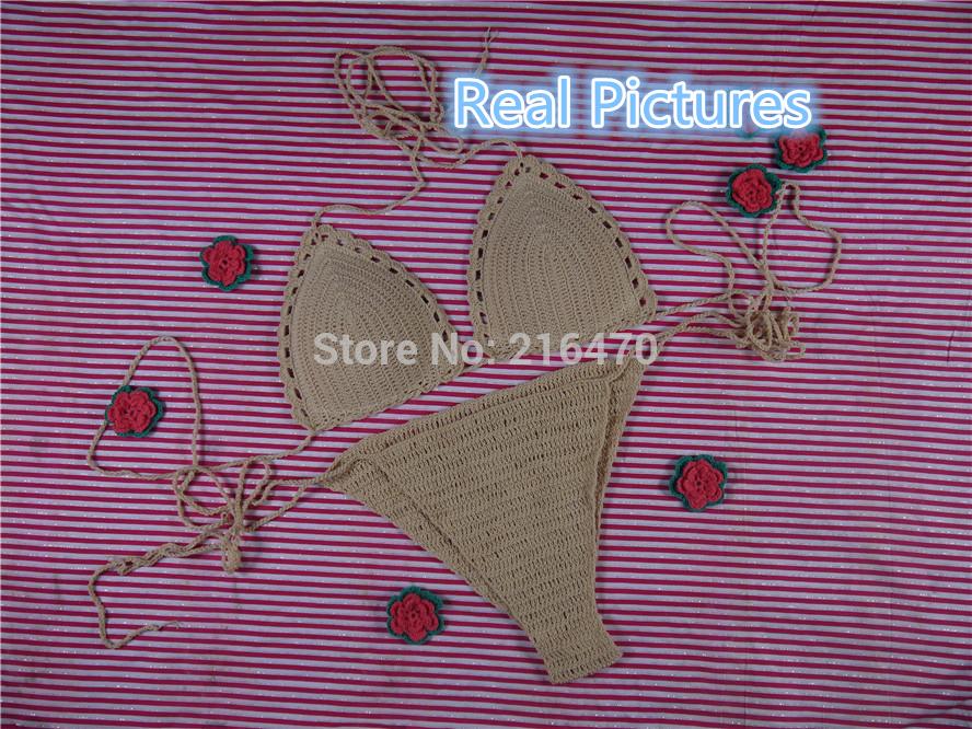 Aliexpress.com : buy beach crocheted bikini set, tops bottom,lining cup crochet swimwear .honeymoon hippie, swimming pools, spas yacht surf bikini from reliable bikini orange suppliers on cotton 100%
