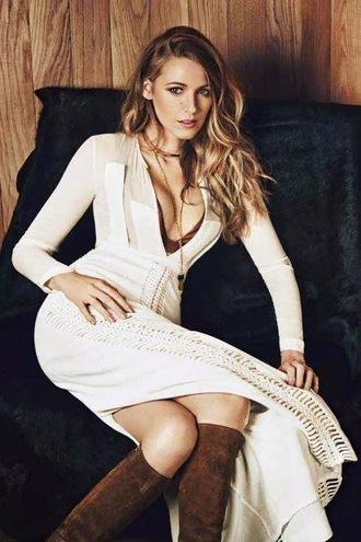 skirt maxi skirt blake lively plunge v neck editorial blouse