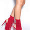 Fringe frenzy faux suede booties camel red black blue - gojane.com